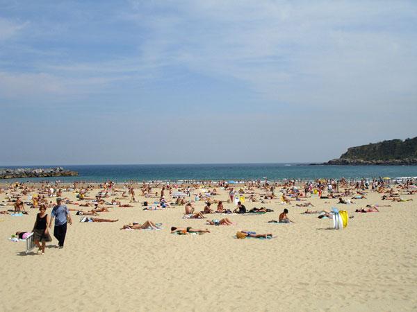 San Sebastian, la spiaggia